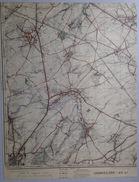 CARTE D ETAT MAJOR 46/4 De 1905 GOSSELIES Charleroi HEPPIGNIES WANGENIES MELLET VILLERS-PERWIN MARBAIS WAGNELEE S601 - Charleroi