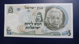 Israel-third Issue-(1968)-5 Lirot Einsten-(black Number-81275416-ל4)-u.n.c - Israel