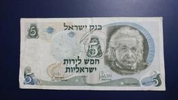 Israel-third Issue-(1968)-5 Lirot Einsten-(red Number-22804835-2ז)-very Good - Israel