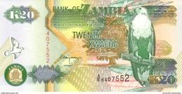 ZAMBIA 20 KWACHA 1992 (1995) P-36b UNC  [ZM137b] - Zambie