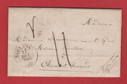 Lettre /  De Bar Le Duc / Pour Clermont Ferrand : 13 Décembre 1846 - Storia Postale