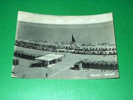 Cartolina Riccione - Spiaggia 1956 - Rimini
