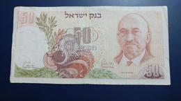 Israel-third Issue-(1968)-50 Lirot Haim Weizman-(black Number-01485199/נ6)-very Good - Israel