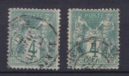 France 1876 - Lot De 2 Timbres N°63(o) - Type I - 1876-1878 Sage (Type I)