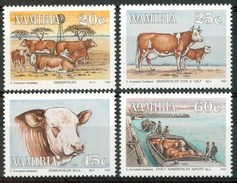 1993 Namibia Import Of European Cattle Mucche Cows Vaches Set MNH**B222 - Cows