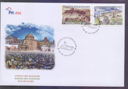 TURKEY 2017 FDC - EUROPA Castles, KARS, Big First Day Cover - 1921-... Republic