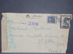 Espagne -  Enveloppe Pour La France Par Avion En 1938 Avec Censure - L 8442 - Republikanische Zensur