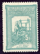 ROMANIA 1906 Charity 2nd Issue 5 B. Perforated 11½:11½:11½:13½ LHM / *.  Michel 166D - 1881-1918: Charles I