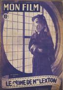 Revue : Mon Film 1948 - Le Crime De Mme Lexton  Dos Héléna Carter. - Handel