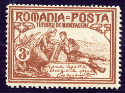 ROMANIA 1906 Charity 3rd Issue 3 B. Perforated 13½:11½:11½:11½ LHM / *.  Michel 169D - 1881-1918: Charles I