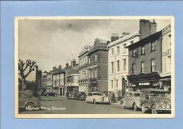 Devizes (Wiltshire - England) Market Place 2 Scans 17June1954 Stores Cars - Angleterre