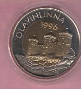 FINLAND 5 EURO 1996 BIMETAAL OLAVINLINNA - Jetons & Médailles