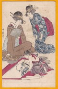 C 1910 - CP Cartonnée Non Utilisée - éditée à Tokyo - The Shimbi Shoin - Peintre En Présence De Deux Geishas - Tokyo
