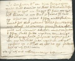Caëstre, Cassel, Lot De 4 Documents , Acte, Extrait De Terrier Datés En 1726, 1772, 1766, 1752 , - Mald55 - Manuscripts