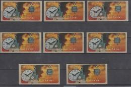 ISRAEL 2004 KLUSSENDORF SIMA ATM TELABUL WATCH FULL SET OF 8 STAMPS - Viñetas De Franqueo (Frama)