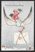 LEYSIN FEYDEY Rare Souvenir Carte à Système Oiseau Fillette (Observatoire) Suisse (VD) - VD Vaud