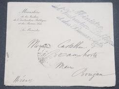 FRANCE - Enveloppe Du Ministre De L 'Instruction Publique Et Des Beaux Arts En 1919 Pour Le Maire De Boujan - L 8465 - Postmark Collection (Covers)