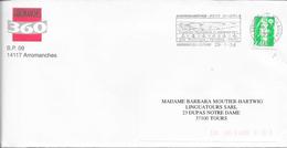 CALVADOS 14  -   ARROMANCHE LES BAINS - FLAMME :  VOIR DESCRIPTION    - THEME HISTOIRE   1996 - Oblitérations Mécaniques (flammes)