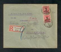 DR 1923, Inflation, R-Brief Von Worpswede Nach Lilienthal Am 1.10.1923, Portogerecht Frankiert Mit Mi. # 309 APa (2 X) - Oblitérés