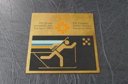 Sarajevo XIV Winter Olimpic Games  7x7cm Plaque - Olympische Spiele