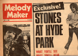 Rolling Stones At Hyde Park, Melody Maker Magazine, July 5, 1969 - Manifesti & Poster