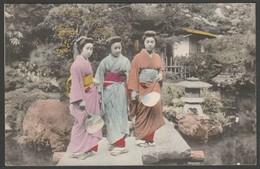 Three Geisha Girls, Yokohama, Japan, C.1905 - Postcard - Yokohama