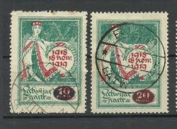 LATVIA Lettland 1920 Michel 55 - 56 O - Latvia