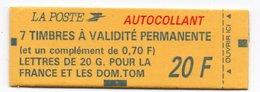 """M. DE BRIAT: Carnet à 20F Contenant 1 Bande De 4x """"n° 2807"""" Et 1 Vignet. + 1 Bande De 3x """"2807"""" Et 1x """"2824"""" Et 1 Vignet - Carnets"""
