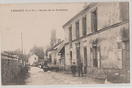 77 Lesigny 1919 Boulangerie Route De La Fontaine Animée éditeur Cl Collard Phot à Lagny état - Lesigny