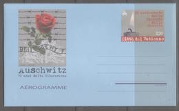Vaticano, 2015, Aerogramma, Giornata Della Memoria, 70 Anni Dalla Liberazione Di Auschwitz, 2,30 Euro, Nuovo - Postal Stationeries