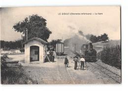 CPA 17 Le Gibaud La Gare Et Le Train Tramway - France
