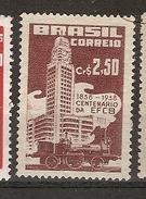 Brazil ** & Locomotive And Gare Of Rio De Janeiro 1958 (643) - Eisenbahnen