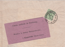 Y&T 32 Obl STRASSBURG I. ELS 1. C [petites Lettres] Du 2.2.88 Adressée à Riquewihr - Alsace-Lorraine