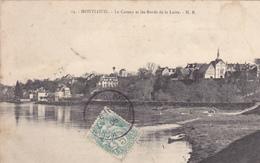"""37. MONTLOUIS. CPA . LE COTEAU ET LES BORDS DE LOIRE. ANNÉE 1906. PRÉSENCE D'UNE ÉOLIENNE """"BOLLEE"""" SUR LE COTEAU - Francia"""