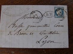 Lot Du 07.06.17_ LAC  De Voiron ? (57 )sur N° 60 A Voir!! BM De St-Etienne De Crossey  Rare!! - Marcophilie (Lettres)