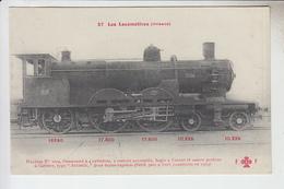 RT29.507 LES LOCOMOTIVES (ORLEANS)LOCOMOTIVE N°3004. COLLECTION F. FLEURY .N°37 - Eisenbahnen
