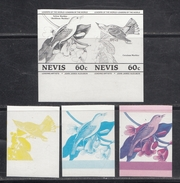 Nevis  Birds  Colour Trials  5v  Imperf   # 95171 - Songbirds & Tree Dwellers
