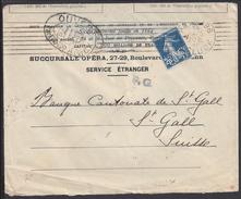 """FR - 1916 - Semeuse 25 Ct Perforée SG Sur Enveloppe Avec Censure, De La Société - Lot Réservé Au Pseudo """"PP57000"""" - Marcofilia (sobres)"""