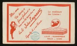Buvard - LITERIE - LEYNAERT - ROUEN - Buvards, Protège-cahiers Illustrés