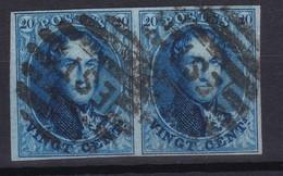 N° 11 Belle Paire Margée  EST   ( 8 Barres ) - 1858-1862 Médaillons (9/12)