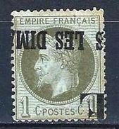 "FR YT 25 "" Napoléon III Lauré 1c. Bronze "" Annulation Typo Des Journaux - 1863-1870 Napoleon III With Laurels"