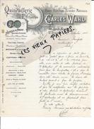 52 - Haute-marne - ST-DIZIER - Facture WAHL - Quincaillerie, Fers, Fontes, Aciers, Métaux - 1908 - REF 68C - 1900 – 1949