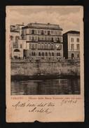 CARTOLINA POSTALE PAESAGGISTICA N°20 PALAZZO DELLA BANCA NAZIONALE VISTO DAL MARE TARANTO PUGLIA ITALIA - Taranto