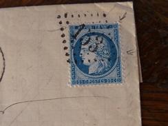 Lot Du 07.06.17_ LAC  De Argentan Et Variété Sur N°60 Type II,réexpediée,voir Verso - 1871-1875 Ceres