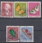 SCHWEIZ  648-652, Gestempelt, Pro Juventute 1957, Insekten - Usados