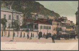 The Library, Gibraltar, C.1904 - Cumbo U/B Postcard - Gibraltar