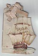 CALENDARIO 1894 FRANCESE SILVERY SAILS CALENDRIER POUR 1894 - Calendari