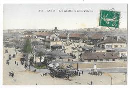 Cpa: 75 PARIS - Les Abattoirs De La Villette (attelages) 1911 N° 345 - Arrondissement: 19