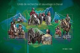TOGO 2015 SHEET HORSE SEARCH AND RESCUE CHEVAUX RECHERCHE ET SAUVETAGE CABALLOS Tg15414a - Togo (1960-...)