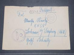 ALLEMAGNE - Enveloppe En FM En 1943 - L 8528 - Germany
